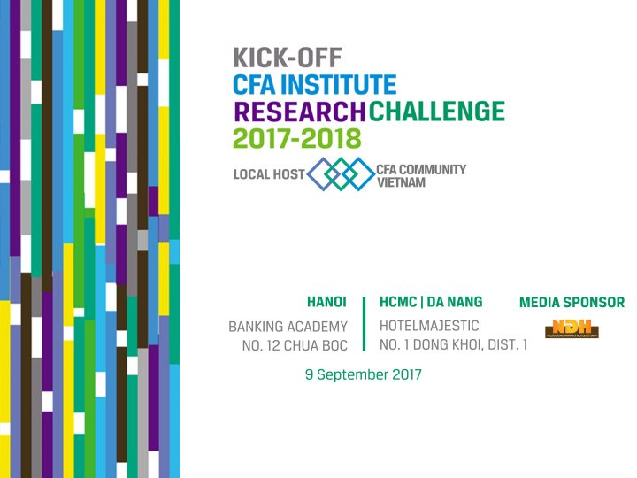 CFA Institute Research Challenge 2017-2018