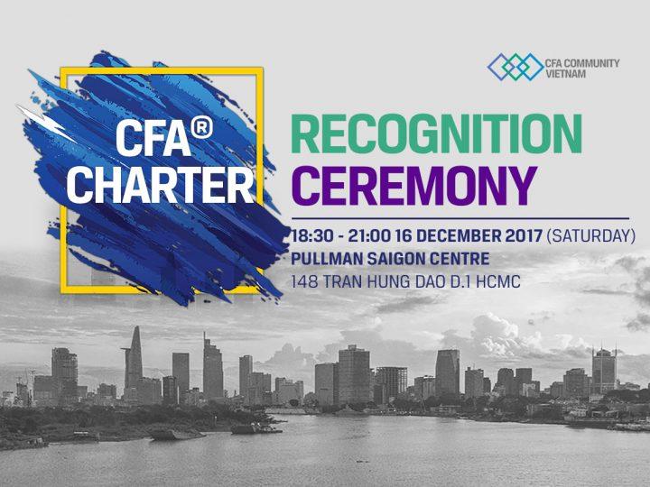 Lễ trao Chứng chỉ CFA, CFA Charter Precognitive Ceremony 2017